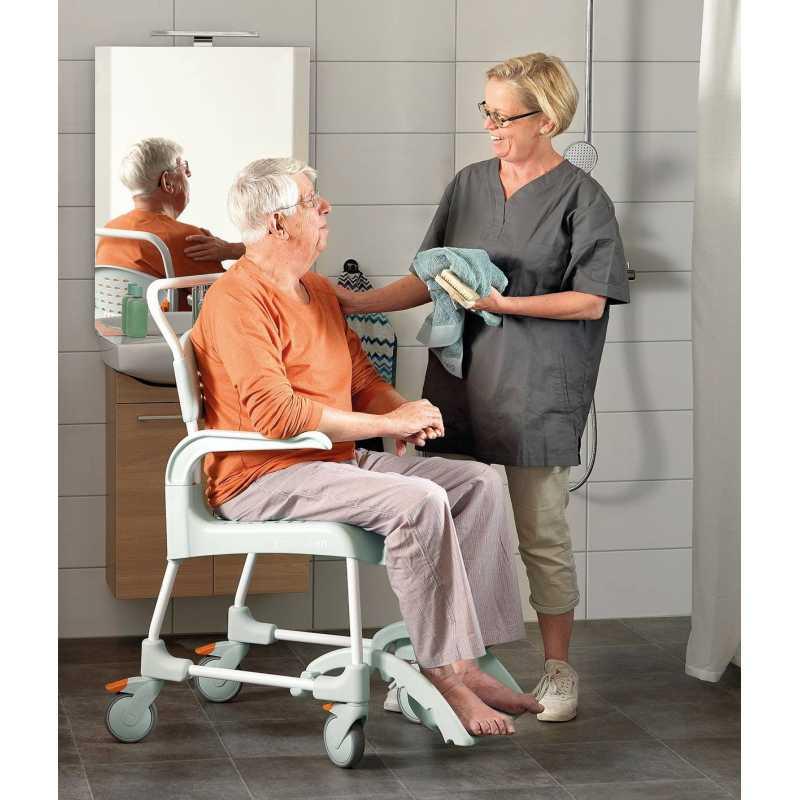 Silla de ducha y wc clean ayudas dinamicas for Sillas wc para enfermos