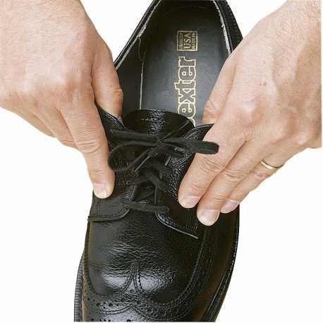 Cordones elásticos de zapato. Negro 94cm.