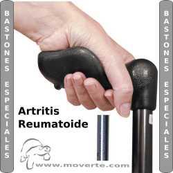 Bastón Zurdos Artritis Reumatoide Azul con mango anatómico plegable.