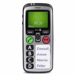 Teléfono móvil con alerta de caídas y protección del usuario aislado.