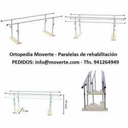 Paralela plegable regulable en altura 2 m