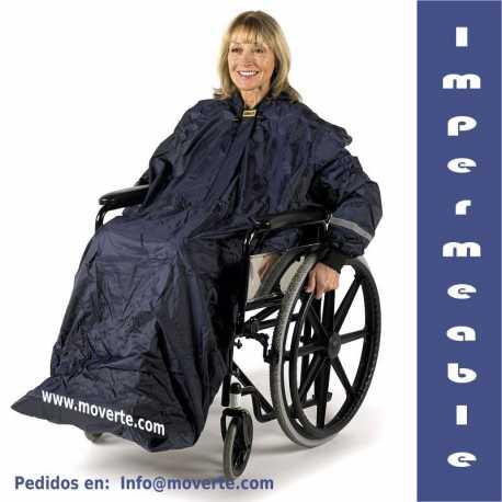 Chubasquero para silla de ruedas forrado con mangas