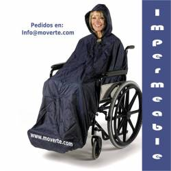 Chubasquero sin mangas Splash para silla de ruedas