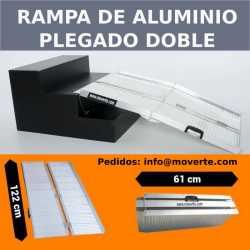 Rampa 1,22 m. super-plegable en 2- de aluminio anodizado.