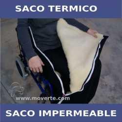 Saco forro termico impermeable para silla de ruedas