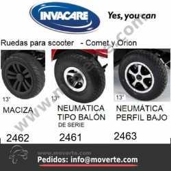 "Rueda 13"" macizas - negras"