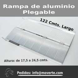 Rampa de 122 cmts. plegable de aluminio