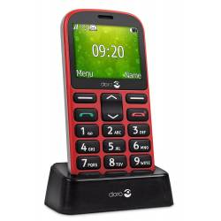 Teléfono Móvil Doro 1361 Easy 32, 8 GB RAM- color rojo.