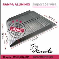 Rampa de aluminio plegable 62 cmts