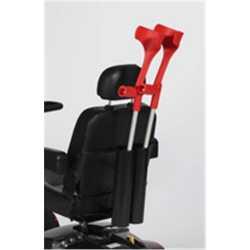 Accesorio para llevar 2 bastones en silla ruedas electrica