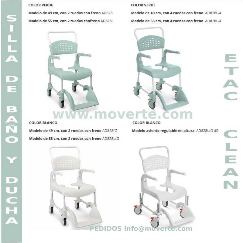 Comprar silla de ducha y wc etac clean por solo 267 - Silla de ducha y wc clean ...