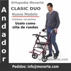 Andador adultos Rollator y Silla de ruedas Classic Duo