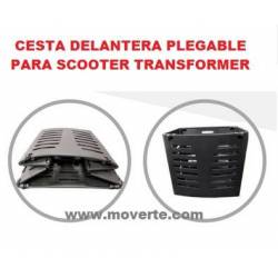 Cesta plegable para scooter transformer