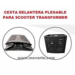 Cesta plegable para scooter transformer