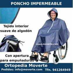 Poncho impermable con forro interior