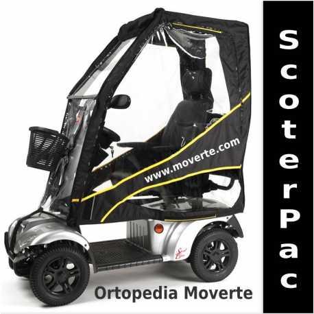 Capota de lluvia plegable para scooter eléctricos.