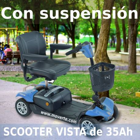 Scooter VISTA con suspensión de 35Ah