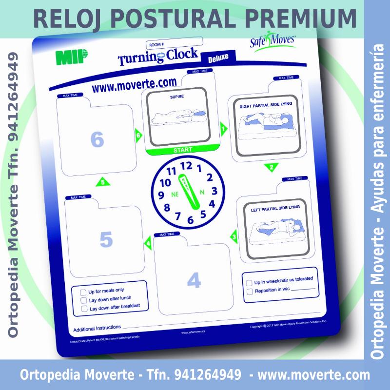 Reloj de control cambios posturales